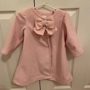 Pink fleece jacket with bow detail, size 18 month